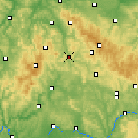 Nearby Forecast Locations - Meiningen - Mapa