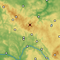 Nearby Forecast Locations - Bosque de Turingia - Mapa