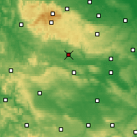 Nearby Forecast Locations - Nordhausen - Mapa