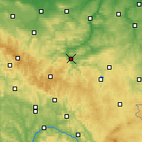 Nearby Forecast Locations - Saalfeld - Mapa