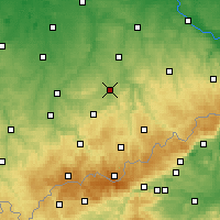 Nearby Forecast Locations - Chemnitz - Mapa