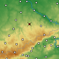 Nearby Forecast Locations - Freiberg - Mapa