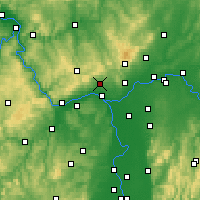 Nearby Forecast Locations - Wiesbaden - Mapa