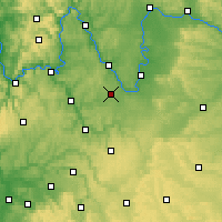 Nearby Forecast Locations - Giebelstadt - Mapa