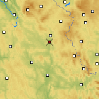 Nearby Forecast Locations - Weiden in der Oberpfalz - Mapa