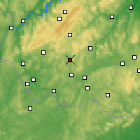 Nearby Forecast Locations - Sankt Wendel - Mapa