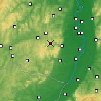 Nearby Forecast Locations - Bosque del Palatinado - Mapa