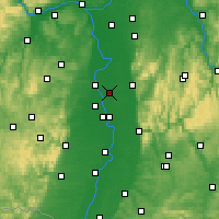 Nearby Forecast Locations - Lampertheim - Mapa
