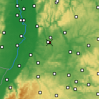 Nearby Forecast Locations - Kraichgau - Mapa