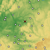 Nearby Forecast Locations - Öhringen - Mapa