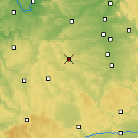 Nearby Forecast Locations - Ansbach - Mapa