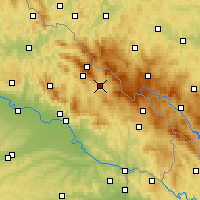 Nearby Forecast Locations - Zwiesel - Mapa