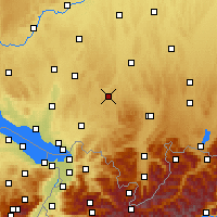 Nearby Forecast Locations - Leutkirch im Allgäu - Mapa