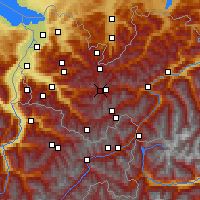 Nearby Forecast Locations - Alpe-Rauz - Mapa