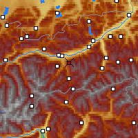 Nearby Forecast Locations - Patscherkofel - Mapa