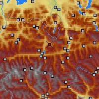 Nearby Forecast Locations - Maria Alm - Mapa