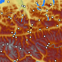 Nearby Forecast Locations - Bischofshofen - Mapa