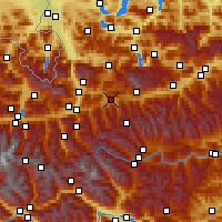 Nearby Forecast Locations - Radstadt - Mapa