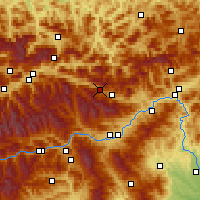 Nearby Forecast Locations - Wald am Schoberpass - Mapa