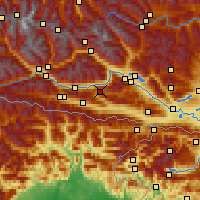 Nearby Forecast Locations - Weissensee - Mapa