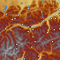 Nearby Forecast Locations - Innsbruck/Uni - Mapa