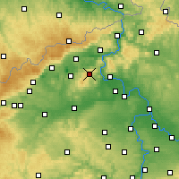 Nearby Forecast Locations - Milešovka - Mapa