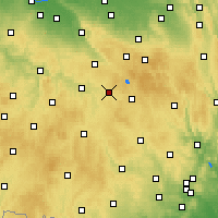 Nearby Forecast Locations - Přibyslav - Mapa