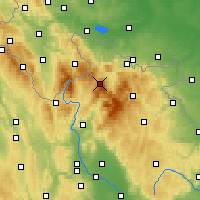Nearby Forecast Locations - Šerák - Mapa