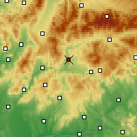 Nearby Forecast Locations - Sliač - Mapa
