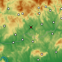 Nearby Forecast Locations - Lučenec - Mapa