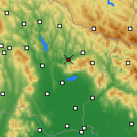 Nearby Forecast Locations - Kamenica nad Cirochou - Mapa