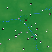 Nearby Forecast Locations - Legionowo - Mapa