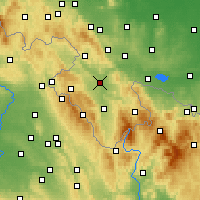 Nearby Forecast Locations - Kłodzko - Mapa