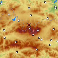 Nearby Forecast Locations - Zakopane - Mapa
