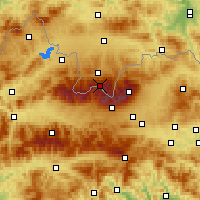 Nearby Forecast Locations - Kasprowy Wierch - Mapa