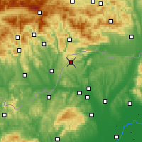 Nearby Forecast Locations - Jósvafő - Mapa