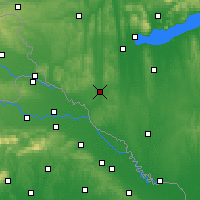 Nearby Forecast Locations - Nagykanizsa - Mapa