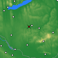 Nearby Forecast Locations - Kaposvár - Mapa