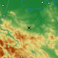 Nearby Forecast Locations - Valjevo - Mapa