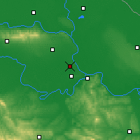 Nearby Forecast Locations - Batajnica - Mapa