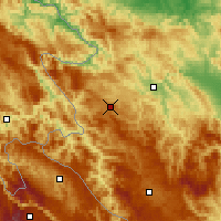 Nearby Forecast Locations - Zlatibor - Mapa