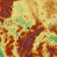 Nearby Forecast Locations - Prizren - Mapa