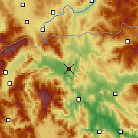 Nearby Forecast Locations - Skopie - Mapa