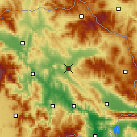Nearby Forecast Locations - Štip - Mapa