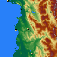 Nearby Forecast Locations - Yzberisht - Mapa