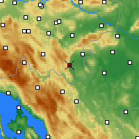 Nearby Forecast Locations - Črnomelj - Mapa
