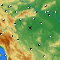 Nearby Forecast Locations - Karlovac - Mapa