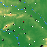 Nearby Forecast Locations - Križevci - Mapa
