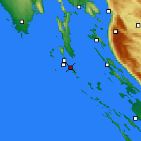 Nearby Forecast Locations - Mali Lošinj - Mapa