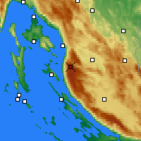 Nearby Forecast Locations - Zavizan - Mapa